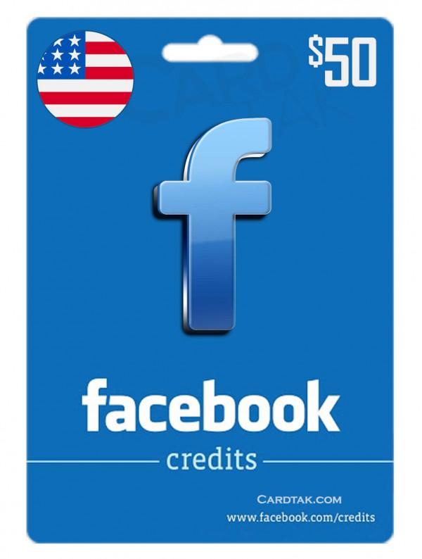 گیفت کارت فیس بوک 50 دلاری آمریکا (US)