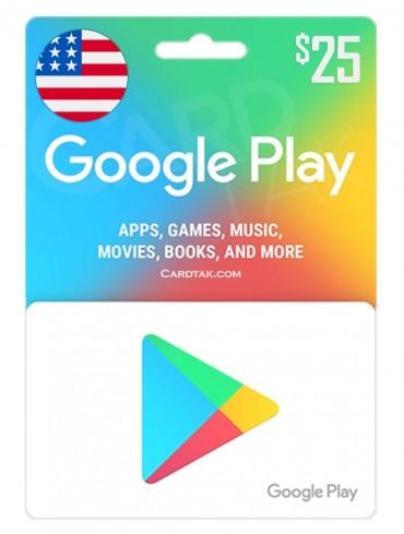 گوگل پلی 25 دلاری آمریکا (US)