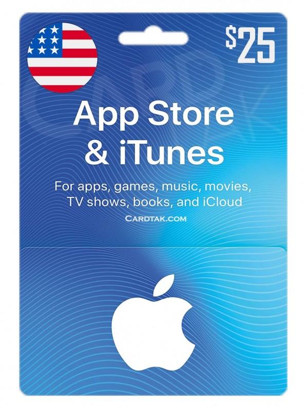 گیفت کارت آیتونز 25 دلاری آمریکا (بهترین قیمت)