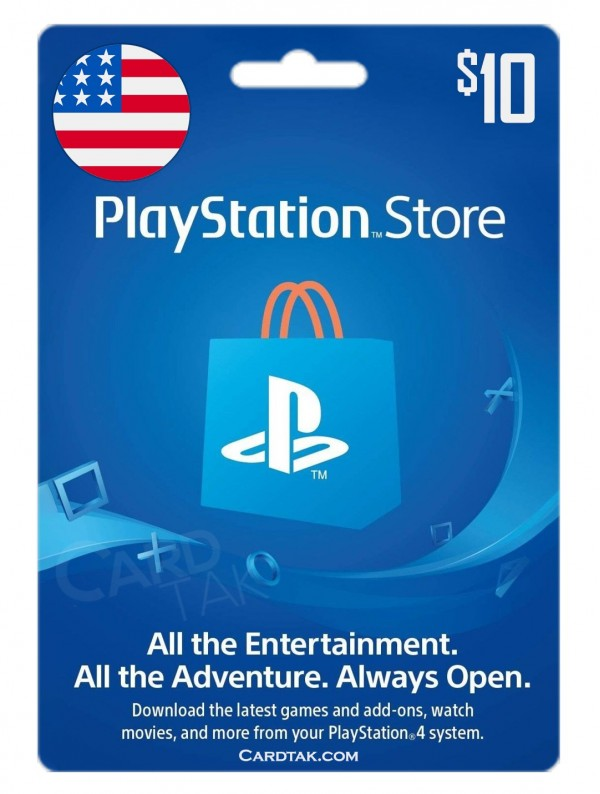 PlayStation Store 10 USD