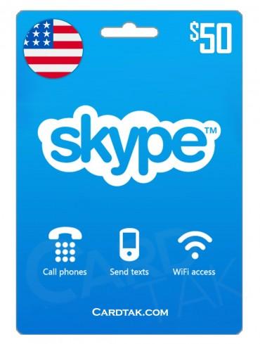 گیفت کارت اسکایپ 50 دلاری آمریکا (US)