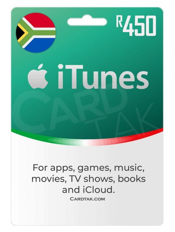 گیفت کارت آیتونز 450 راند آفریقای جنوبی (بهترین قیمت)