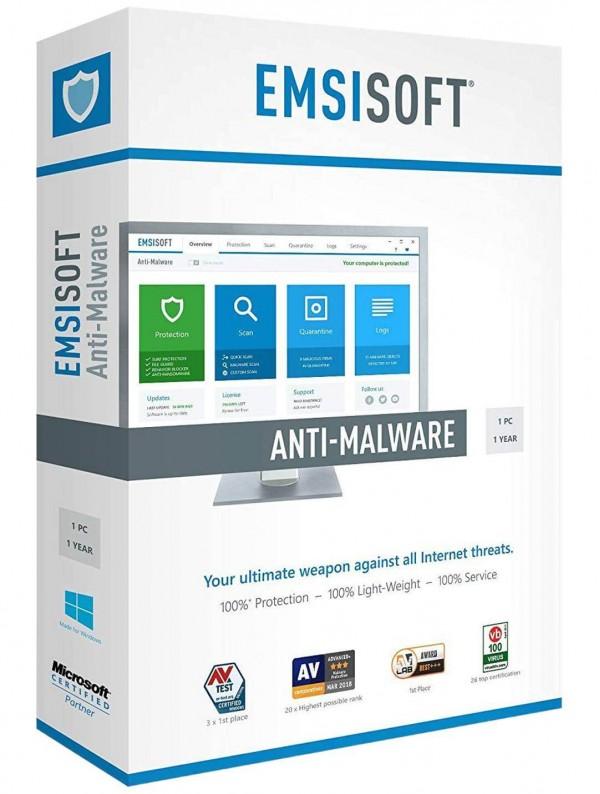 Emsisoft Anti Malware Home | 1 PC – 1 Year