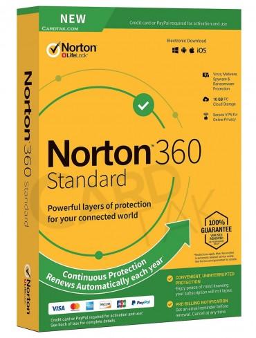 لایسنس آنتی ویروس نورتون 360 استاندارد (1کاربره 1 ساله)